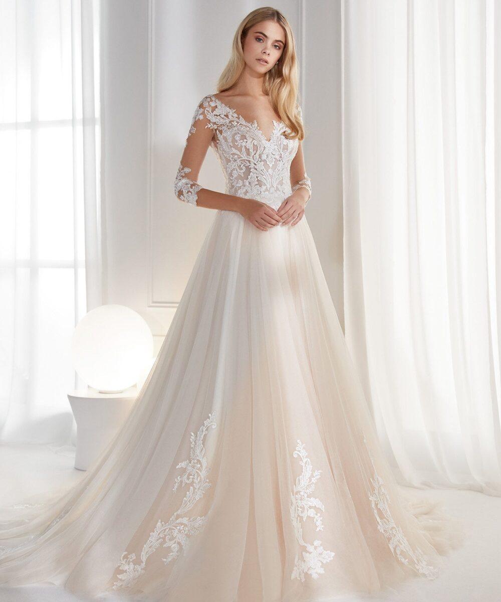 Elizabeth Bridal Nicole Milano Collection Aurora 12153 01