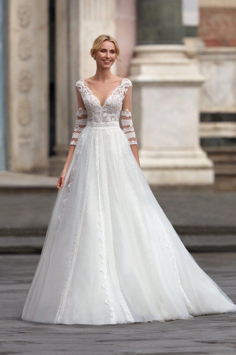 Elizabeth Bridal Nicole Milano Collection Nicole 12126 01