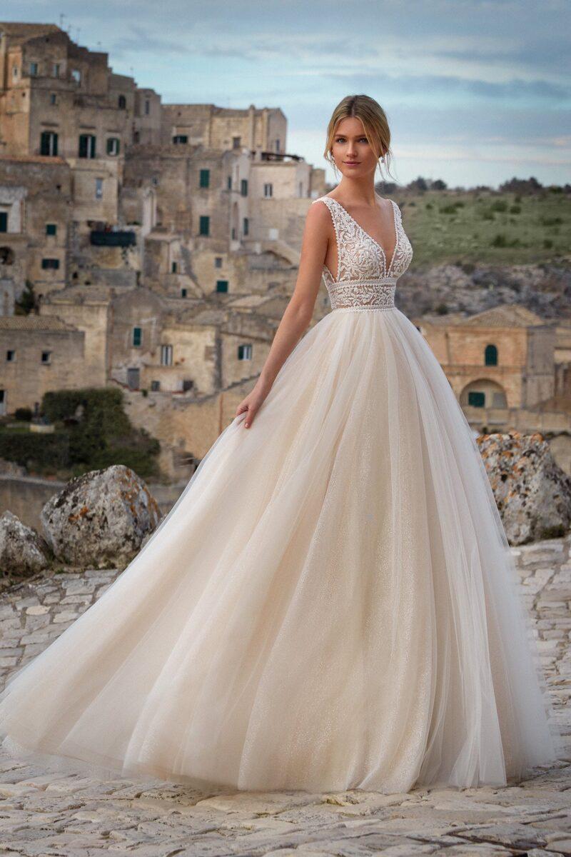 Elizabeth Bridal Nicole Milano Collection Romance 12100 03